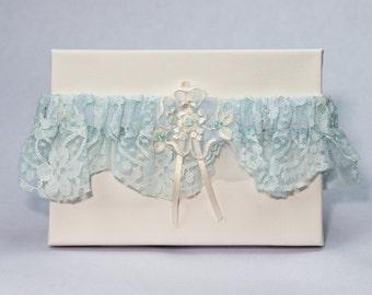 Garter 016 - Vintage Garter, Lace Garter, Wedding Garter, Liga de Bodas, Garter, Toss Garter. Made with a variety of laces & materials.