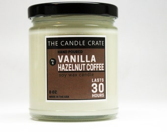 Vanilla Hazelnut Coffee Soy Wax Container Candle
