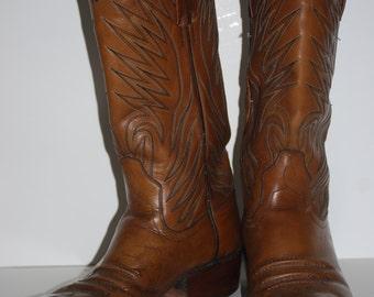 Vintage DAN POST Leather Western Cowboy Boots Size 8