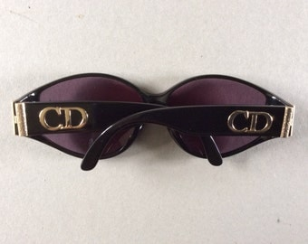 New Lower Price ...were 149.00 ....Christian Dior 1980s/90s sunglasses, gilt  logo on arms with  NEW LENSES