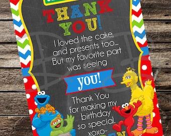 Sesame Street Thank You Card. Sesame Street Birthday. Sesame Street Party