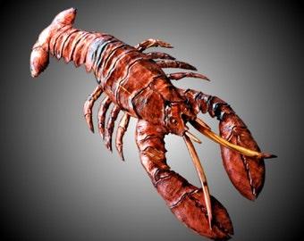 Atlantic Maine Lobster Wall Sculpture