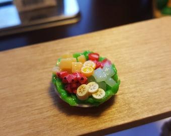 Miniature fruit plate dollhouse miniatures