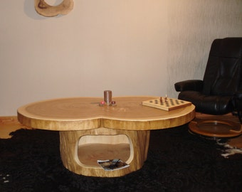 Tree - trunk table wood table coffee table