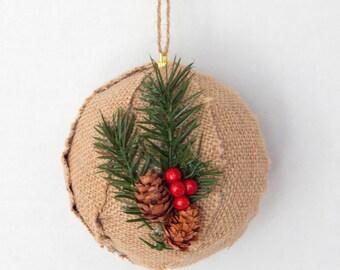 Rustic Christmas Ornament - Set of 3 - Christmas Tree Ornament - Rustic Christmas - Country Christmas Decor - Rustic Holiday - Holiday Decor