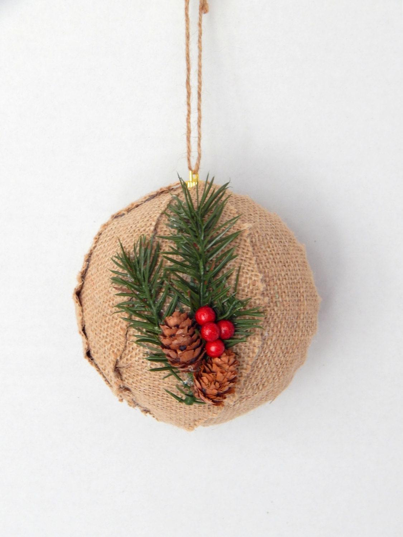 Rustic christmas ornament tree