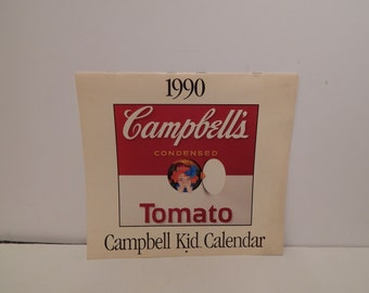 Vintage 1990 Campbell's Kid Calendar
