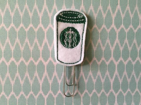 Coffee Latte Starbucks Planner Clip/Paper Clip/Feltie Clip/Bookmark