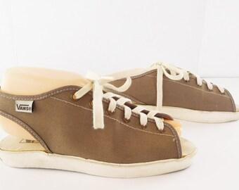 Vintage VANS Made In USA Women's Open Peep Toe Sandal Sneaker Size 7