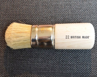 Extra Large Stencil Brush Size 22 - 36mm (about 1  1/4 inch) also works as an ideal Wax Brush for Furniture Painting Projects