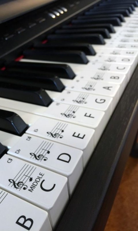 61 Best Images About Native Americans On Pinterest: STANDARD Keyboard / Piano Stickers Up To 61 KEYS The Best Way