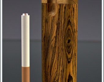 Handcrafted Tall Bocote Swivel Dugout with one- hitter Bat