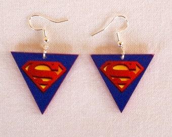 Earrings with Superman  Logo