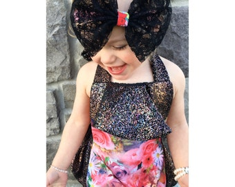 Roselle Black Inspired Princess xlarge Bows