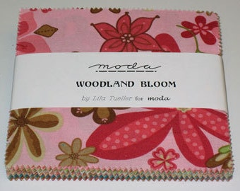 Woodland Bloom Charm Pack by Lila Tueller for Moda  (shop cut)