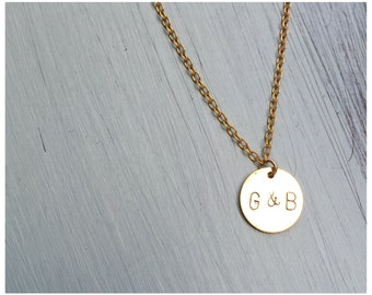 Hand-Stamped Initial Necklace