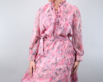 50's vintage dress with ruffle - Donna