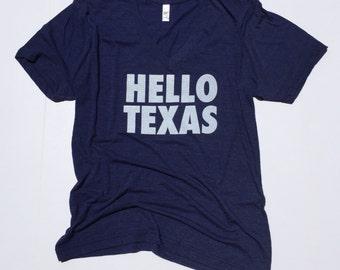 Hello Texas adult tee