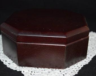 Jewelry box / Mele jewelry box / Mahogony jewelry box / octagonal jewelry box / jewelry / Mele / small jewelry box / wood jewelry box / box