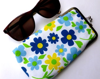 Glasses Case, Fabric Case, Spectacles Case, Spectacles Cover, Reading Glasses Case, Glasses pouch, Sunglasses case,   Metal Frame Purse