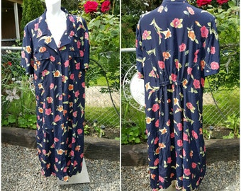 LL-Vintage summer dress- Size 24W/44tall-Womens dresses-Designer label-Office-Formal-Causal-Party-Fancy-Gift-Plus size fashion-Flowerprint