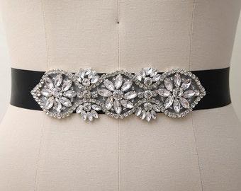Bridal Sash Belt, Rhinestone Belts, Wedding Dress Sash Belts, Wedding Dress Sash Belts/ B035
