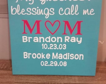 A sign for mom, birthday gift, mothers day, valentine's day