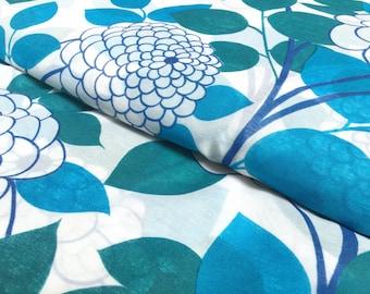 Vintage curtain fabric: blue flower/50 x 200cm