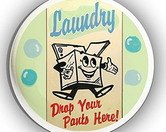 Novelty Laundry Drop Your Pants Ceramic Knobs for Drawers and Cabinets