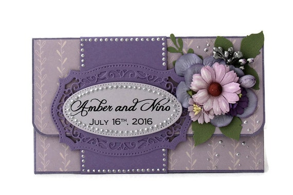 Unique Wedding Gift Card Holders : Personalized Gift Card Holder - Custom Gift Card Holder - Wedding ...