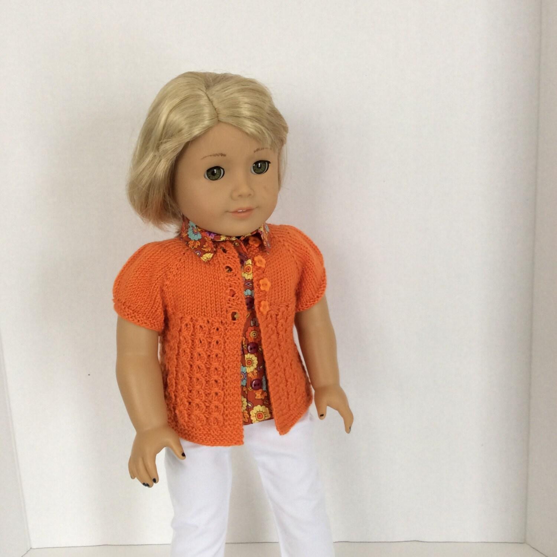 Knitting Pattern Cardigan Short Sleeve : Grace Short Sleeve Sweater Knitting Pattern for American