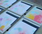Multi-Colored Marbled Blank Card Set of 6