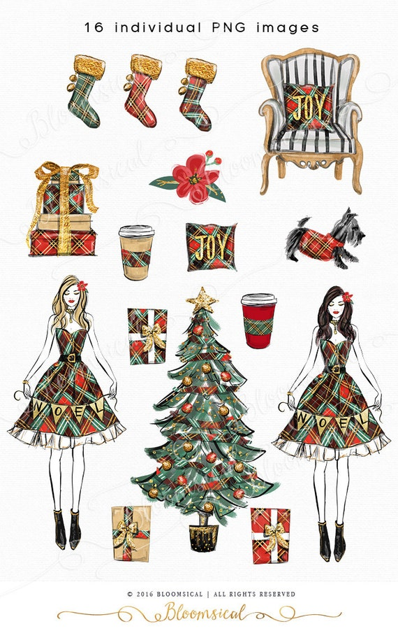 noel christmas clip art illustration cozy holiday tree. Black Bedroom Furniture Sets. Home Design Ideas