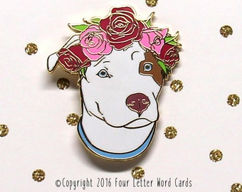 Dog Enamel Pin, Enamel Pins, Hard Enamel Pin, Dog Lapel Pin, Dog Brooch, Cute Enamel Pin, Gift for Mom, Pet gift for Mom