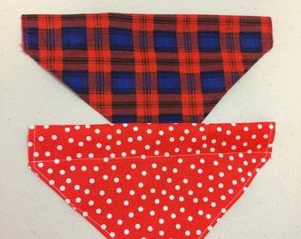 Dog bandana set of 2 - slide onto collar