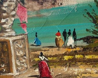 Mid Century Modern Painting, Sofa Painting, Hollywood Regency Painting, Carlo of Hollywood Painting