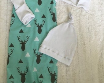 0-3 month baby boy gown