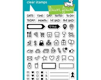 SALE! Plan On It - Clear Stamps  (LF1129)