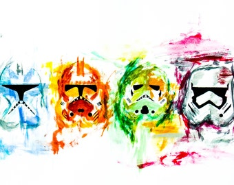 Starwars Stormtrooper Acrylic Art Print Colorful Clone Trooper