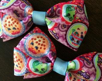 Shopkins pigtail bows