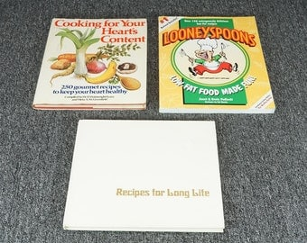 Vintage Collection Of Healthy Eating Cookbooks 3 Book Set