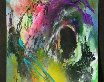 Abstract Painting, Abstract art, Mixed Media canvas, street art, Christian art,