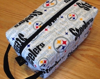 Pittsburg Steelers Makeup/Shaving Travel Case Boxy Pouch