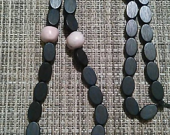 Stone and Wood Bead Necklace