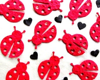 30 Confetti Ladybugs Seed Paper - Lady Bug Birthday Party Favors - Little Lady Baby Shower Favors - Plantable Paper Ladybugs - Seed Bombs
