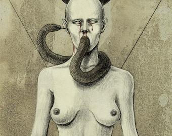 Serpent's kiss A6 print