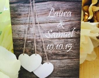 50 Heart Favors, Wood Heart, Wedding Hearts, white Heart Wedding Favors, Rustic Bridal Shower Favors, heart locket, rustic heart