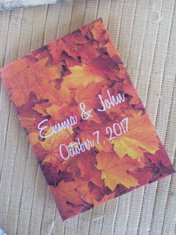 Fall Wedding, Fall Seed Packets, fall wedding favors, autumn wedding favors, fall favors, fall seed packets, rustic fall favors