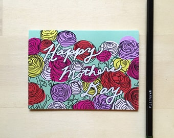 Happy Mother's Day 4 Bar Card