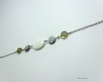 Ivory and Brown bracelet